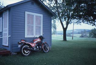 Cabin and bike