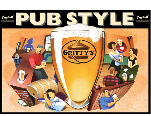 Gritty's Pub Style Ale art
