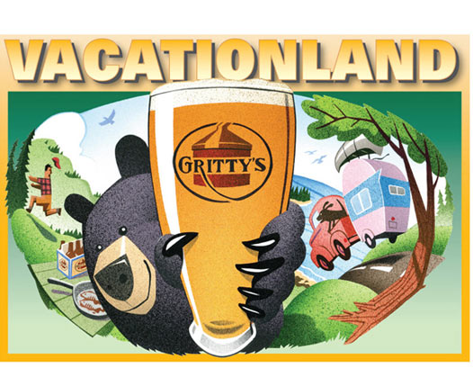 Gritty's Vacationland Ale art